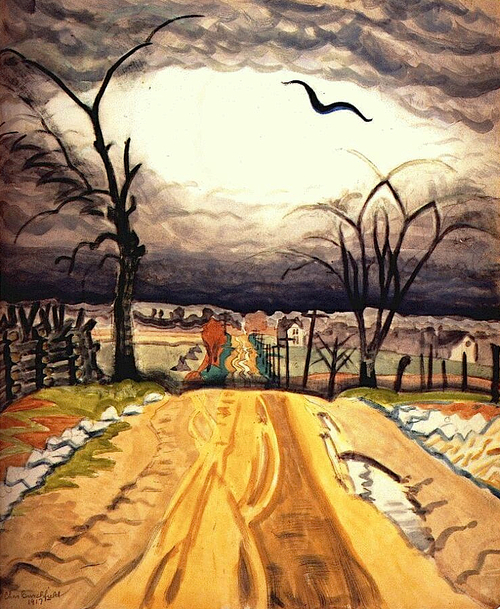 Charles Burchfield The Mysterious Bird 1917