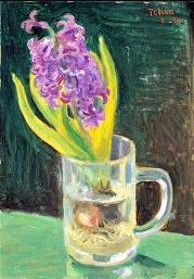 """""""Hyacinth"""" (1941, oil on board) by Chen Baoyi"""