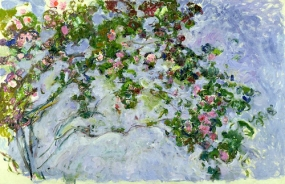 """""""Les Roses"""" (1925-26, oil on canvas) by Claude Monet"""