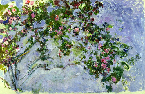 """Les Roses"" (1925-26, oil on canvas) by Claude Monet"