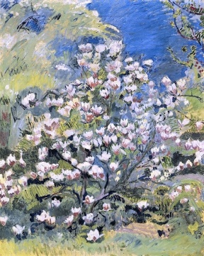 """Magnolien"" (1945, oil on canvas) by Cuno Amiet"