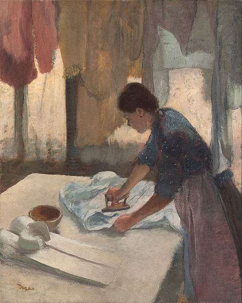 Edgar Degas Woman Ironing c1876-87 oil on canvas