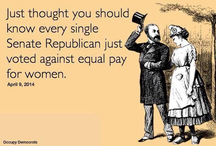 GOP blocks equal pay