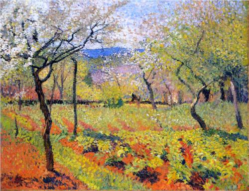 Henri Martin FLowering Garden in Spring oil on canvas 1920