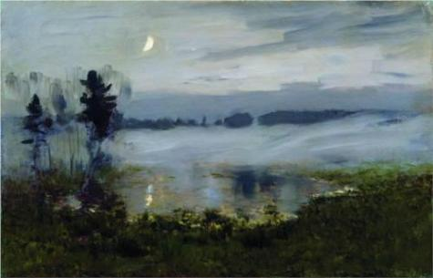 Isaac Levitan Fog over Water c1895 oil on canvas