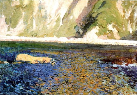 Joaquin Sorolla y Bastida Coast at San Sebastian 1918 oil on canvas