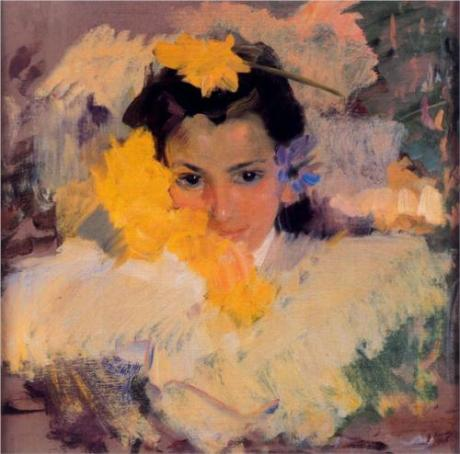 Joaquin Sorolla y Bastida GIrl with Flowers nd