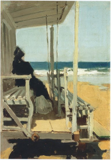Joaquin Sorolla y Bastida On San Sebastian Beach circa 1895-1900 oil on canvas