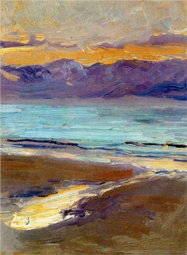 Joaquin Sorolla y Bastida Playa 1906 oil on cardboard