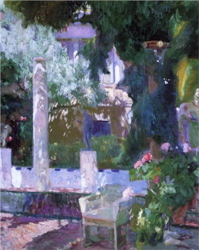 Joaquin Sorolla y Bastida Rose Bush at the Sorolla House 1918 oil on canvas