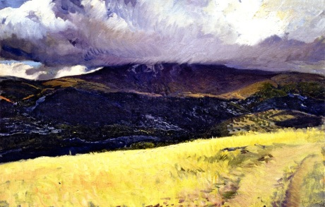 Joaquin Sorolla y Bastida Storm over Peñalara, Segovia 1906 oil on canvas
