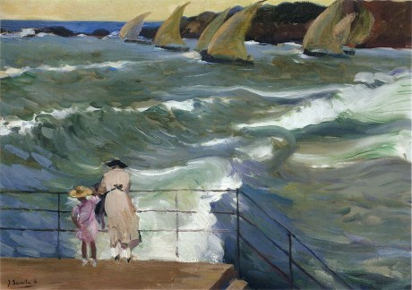 Joaquin Sorolla y Bastida The Waves at San Sebastian 1915 oil on canvas