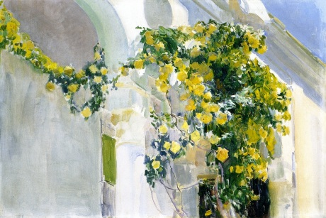 Joaquin Sorolla y Bastida The Yellow Rosebush of the Sorolla House c1920 oil on canvas