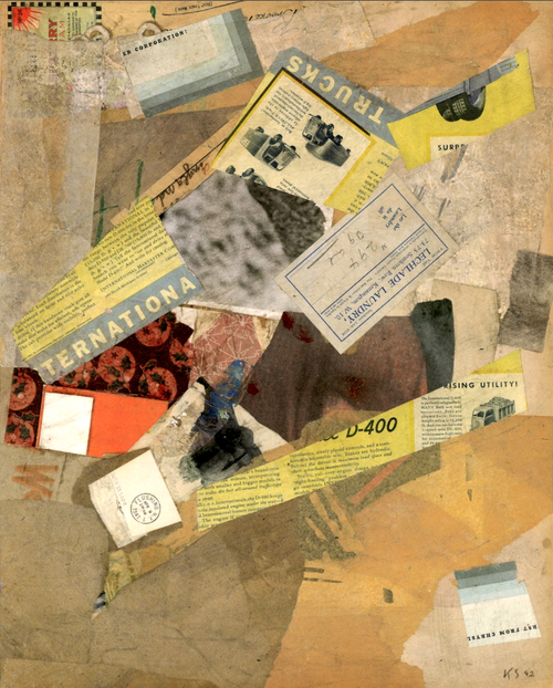 Kurt Schwitters Untitled paren Tenartional 1942
