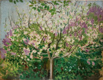 """Apple Tree Blooming"" aka ""The Eternal Spring"" (1908) by Maurice Denis"