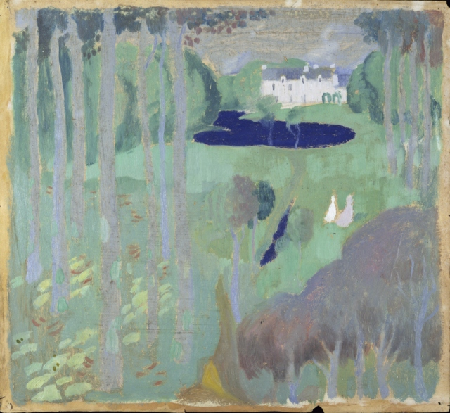 Maurice Denis Residence with a Pond c1895
