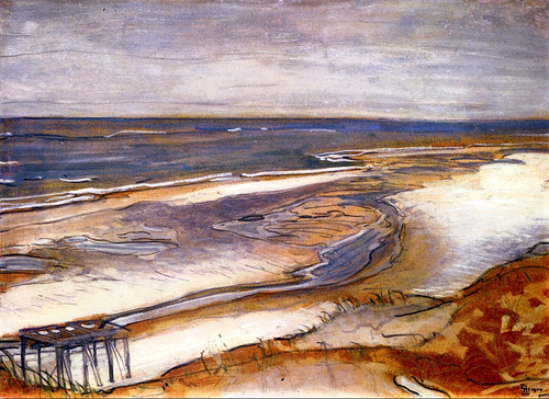 Max Beckmann Beach Landscape 1904