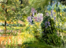 """Wannsee Garden"" (1923, oil on canvas) by Max Liebermann"
