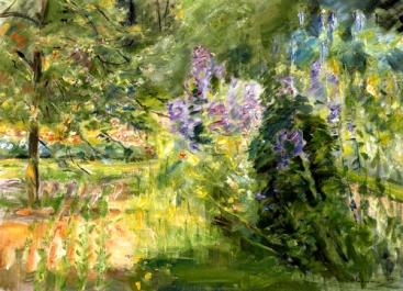 """Wannsee Garden"" (1923, oil on canvas) by Max Liebermann"