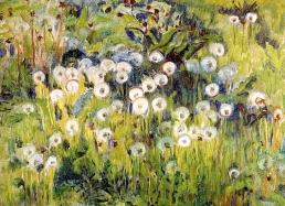 """""""Meadow"""" (1913, oil on canvas) by Mikko Oinonen"""