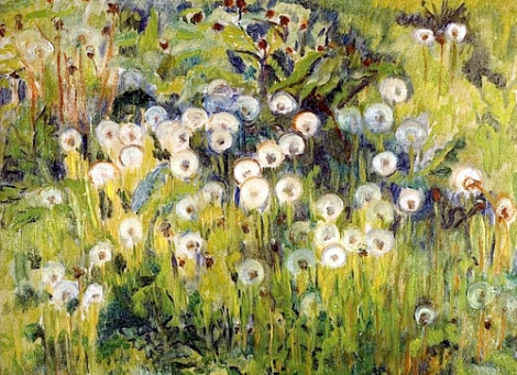 """Meadow"" (1913, oil on canvas) by Mikko Oinonen"