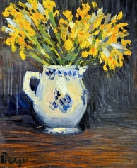 """Yellow Irises"" (1901, oil on canvas) by Pablo Picasso"
