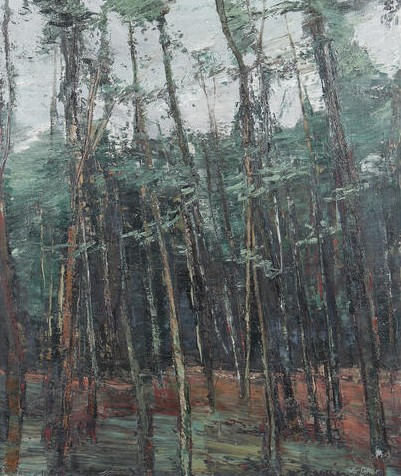 """Autumn Forest"" (1973, oil on canvas)"