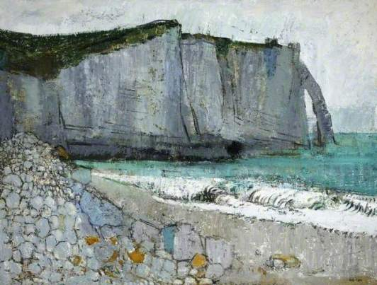 """Cliff at Etretat, France"" (1955, oil on canvas)"