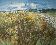 """Gorse and Bracken, Audierne"" (1956-57, oil on hardboard)"