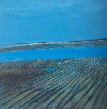 """Low Tide Seascale, Cumbria"" (c1969, oil on board)"