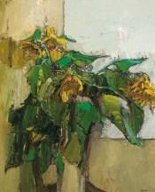 """""""Sunflowers"""" (1958-59, oil on board) by Peter Coker"""