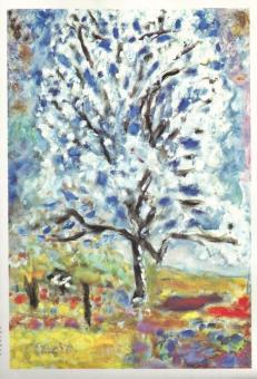 """""""L'amandier en fleurs"""" (1947) by Pierre Bonnard"""
