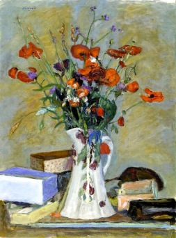 """""""Poppies and Grasses"""" (1914, oil on canvas) by Pierre Bonnard"""