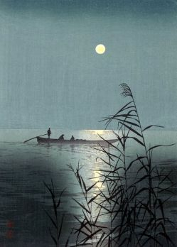"""Moonlit Sea"" (c1920) by Shoda Koho"
