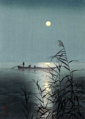 """Moonlit Sea"" (c1920) by Shoda Koho"
