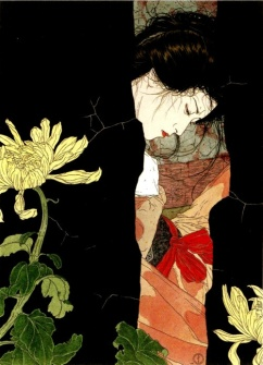 """""""Black Will-o-the-Wisp"""" (date unknown, ink and wash) by Takato Yamamoto"""