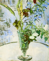"""Glass with Wild Flowers"" (1890, oil on canvas) by Vincent van Gogh"
