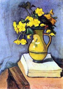 """Marsh Marigolds"" (1906) by Wladyslaw Slewinski"