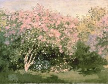 """Lilacs in the Sun"" (1872)by Claude Monet"