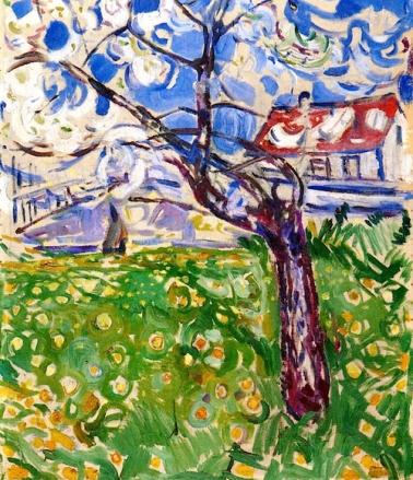 """Fruit Trees in Blossom"" (1910-11)by Edvard Munch"