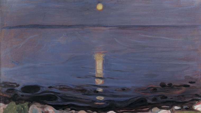 Edvard Munch Sommernatt ved stranden Summer Night by the Beach 1902-03