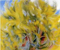 """""""Cottonwood Tree in Spring"""" (1943)by Georgia O'Keeffe"""