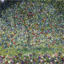 """Apple Tree, I"" (1912, oil on canvas)by Gustav Klimt"