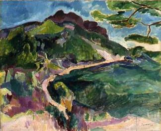 """Landschaft (Bei Cassis)"" (1909, oil on canvas)"