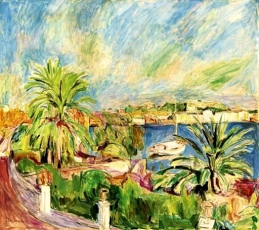 """Palm Harbor, Porto Dischia"" (1921 oil on canvas)"