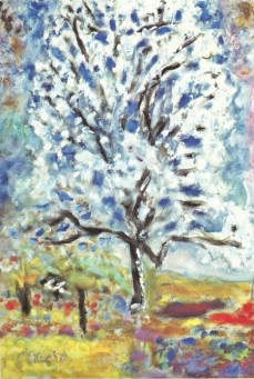 """Almond Tree in Flower"" (1947)by Pierre Bonnard"