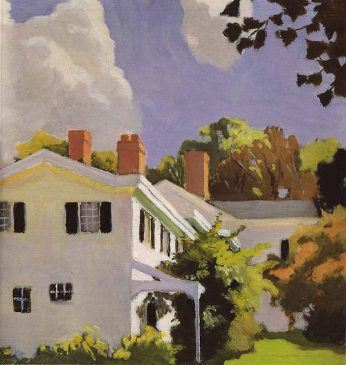 Fairfield Porter House with Three Chimneys 1972 oil on canvas