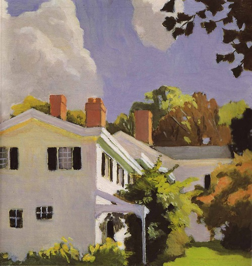 Fairfield Porter House with Three Chimneys 1972 oil on canvas