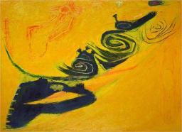 """Summer 1962"" (oil on canvas)by Frank Lobdell"