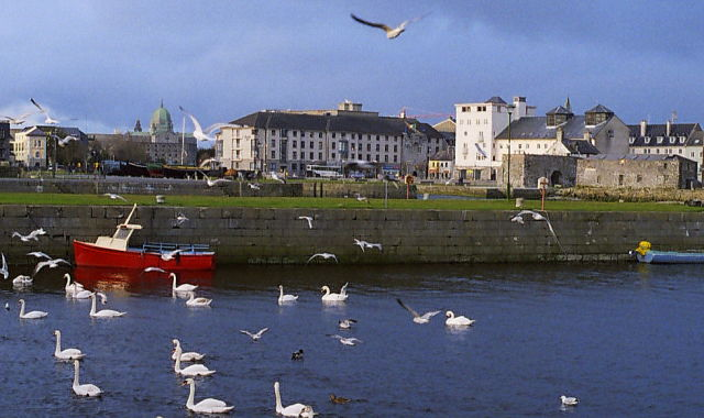 Galway, Panoramic from Claddagh and River Corrib WC